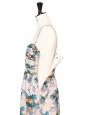 Robe bustier plissée en mousseline de soie imprimée fleuri NEUVE Prix boutique 300€ Taille 40