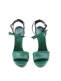 Dark green leather heel sandals NEW Retail for 500€ Size 39