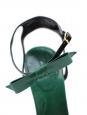 Sandales à noeud en cuir vert Prix boutique 500€ Taille 39