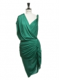 Orange draped Grecian cocktail dress Retail price €2050 Size 38/40