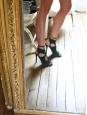 Sandales Sexy Thing à talons fins en cuir vert foncé NEUVES Px boutique €460 Taille 39,5