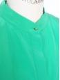 Robe sans manches en crêpe de soie vert émeraude Px boutique 1300€ Taille 36/38