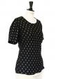 T-shirt en soie à chevrons noir brodé de fils dorés Px boutique 750€ Taille 36/38