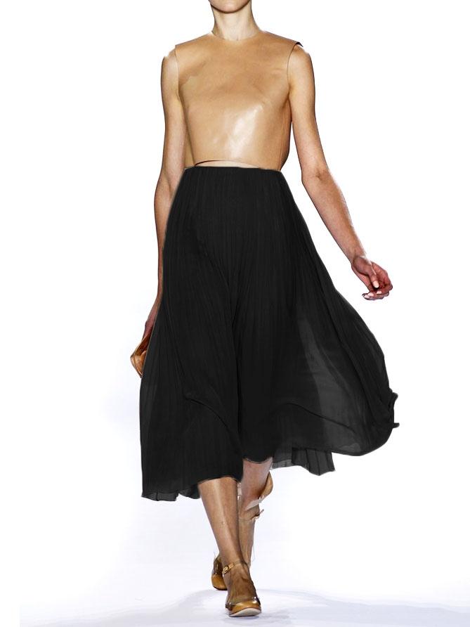... CHLOE Jupe longue en mousseline noire Prix boutique 1660€ Taille 36 ... 90858f93d32