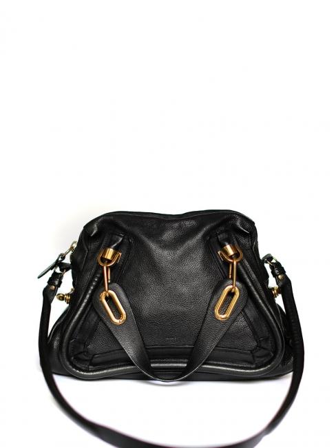 794044e4a76 Louise Paris - CHLOE PARATY black leather medium shoulder bag Retail ...
