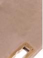 Sac à bandoulière HAPPY en cuir matelassé beige taupe Prix boutique 1800€
