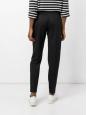 Black wool crepe slim fit zipper pants Retail price €560 Size 36