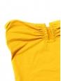 Maillot de bain une pièce bustier CASSIOPEE jaune pastel NEUF Prix boutique 325€ Taille 38