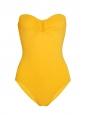 Maillot de bain une pièce bustier CASSIOPEE jaune NEUF Prix boutique 325€ Taille 38
