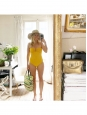 Pastel yellow CASSIOPEE one piece swimsuit NEW Retail price €325 Size 38
