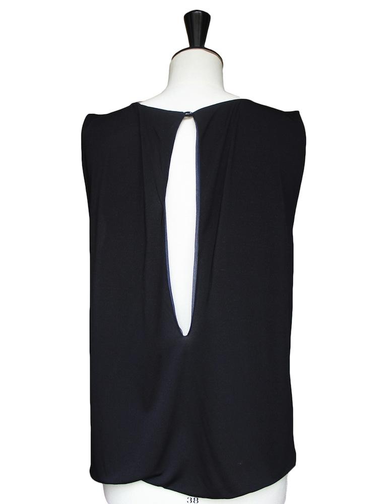 louise paris chloe top en cr pe de soie bleu p trole px boutique 950 taille 36 36. Black Bedroom Furniture Sets. Home Design Ideas