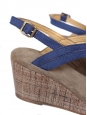 APC Royal blue cotton canvas wedge sandals NEW Retail price 280€ Size 40