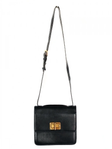 Black leather cross body LOUISE bag Retail price €1450