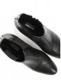 Bottines à talons en cuir noir et zip argent Px boutique 750€ Taille 39
