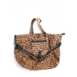 Wild leopard printed pony calfskin leather BILLY bag Retail price €1695 Size L