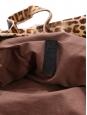 Sac Billy en cuir et poulain imprimé léopard sauvage beige et marron Prix boutique 1295€ Taille L
