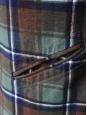 Robe manches longues en laine à carreaux bleu vert et marron Taille 38