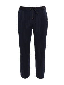 Straight leg midnight blue crêpe pants Size 36