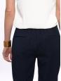 Straight leg midnight blue crêpe pants Size 36