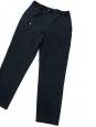 Pantalon droit en crêpe bleu nuit à fines rayures Taille 36