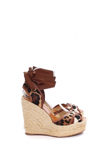 daca22dcf9f4 DOLCE   GABBANA · Leopard printed pony calfskin and brown leather jute  wedge sandals Retail price €795 Size 37