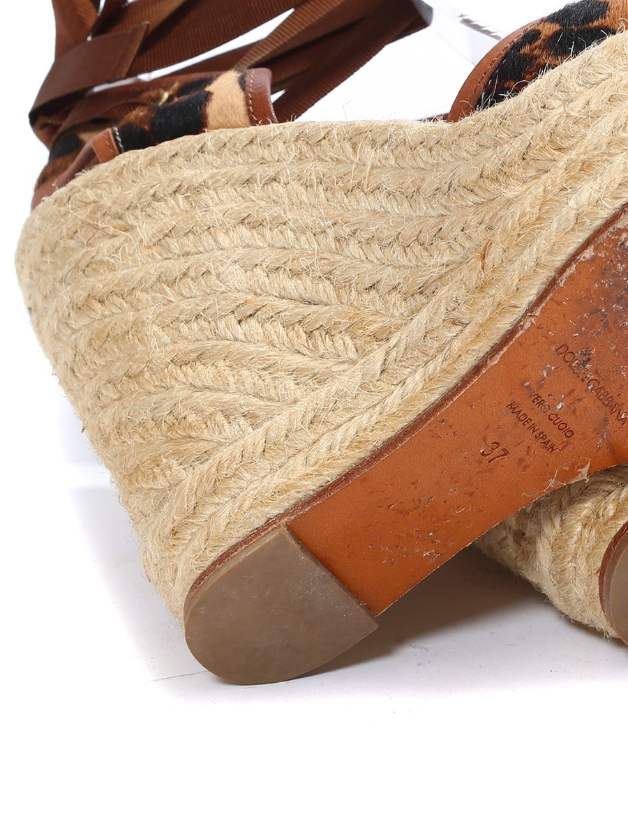 160e93a9a ... Floral printed and braided jute wedge sandals Retail price €795 Size  36.5
