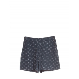 White polka dots navy blue linen shorts Retail price €550 Size 36