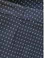 Short taille haute en lin bleu marine à pois blancs Px boutique 550€ Taille 36