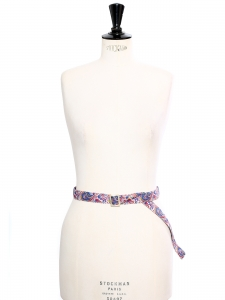 Blue floral liberty print cotton belt Unique size