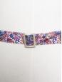 Blue floral liberty print cotton belt Unique size