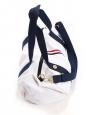 FAGUO Sac polochon de voyage ou week-end en toile blanche anses bleu marine Prix boutique 60€