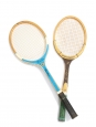 Miss Go Gauthier and Snauwaert Brian Gottfried light wood tennis rackets