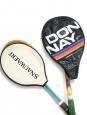 Miss Go Gauthier and Snauwaert Brian Gottfried light wood tennis rackets