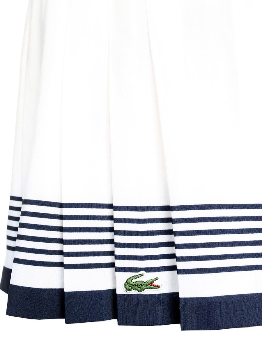 0a46363607 Louise Paris - LACOSTE Mini jupe de tennis plissée blanche et bleu ...