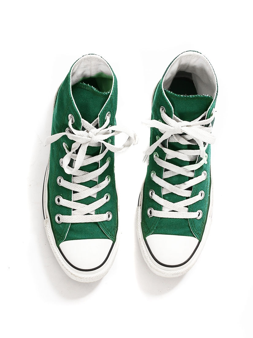 675b0ec1e58 ... Baskets montantes Chuck Taylor Classi All Star en toile vert sapin  Taille 37 ...