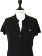 Robe polo en coton mini piqué de coton noir stretch Px boutique 145€ Taille 38