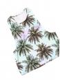 Cropped top débardeur imprimé palmier vert et bleu Taille 36