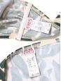 Maillot de bain deux pièces imprimé tropical vert foncé et blanc Prix boutique 325€ Taille 38