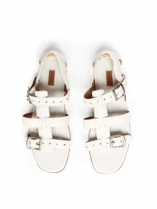 White leather flat gladiator sandals NEW Retail price €900 Size 39.5
