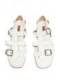 Sandales plates en cuir blanc NEUVES Prix boutique 900€ Taille 39,5