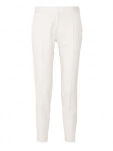 Vivian zip-detailed ivory white wool-twill straight-leg pants Retail price €560 Size 34