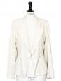 Ivory cream cinched blazer jacket Retail price €1500 Size 36