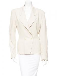 Veste blazer cintrée blanc crème Prix boutique 1500€ Taille 36
