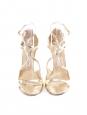 Sandales Lance à talon en cuir métallisé doré Px boutique 650€ Taille 41