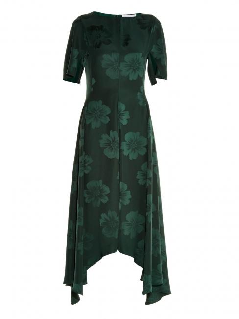 Robe Stoney Magnolia en jacquard de soie vert impérial Prix boutique 1345€ Taille 34