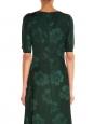 Robe Stoney Magnolia en jacquard de soie vert impérial Prix boutique 1345€ Taille 34/36