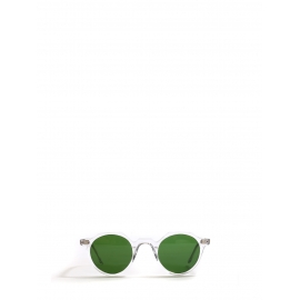 HERI Crystal clear frame sunglasses with bottle green mineral lenses Retail price €350 NEW