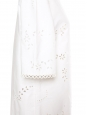 Robe manches courtes en coton blanc dentelle fleurie à oeillets Prix boutique 580€ Taille 40