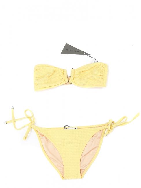 Bikini bandeau culotte ficelle jaune PUERTO VIEJO et FORMENTERA NEUF Px boutique 215€ Taille 36