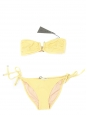 Yellow waffle PUERTO VIEJO and FORMENTERA bikini swimsuit NEW Retail price €215 Size S
